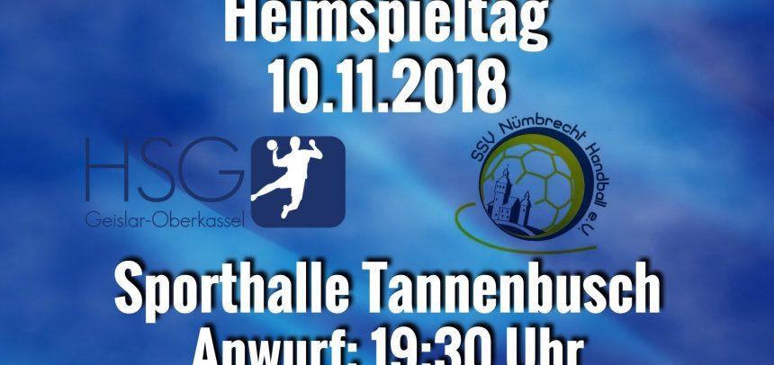 HSG empfängt Nümbrecht II zum Heimspiel in Tannenbusch